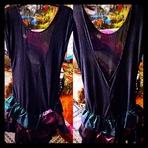🎭Flirty Sheer Top Mardi Gras Ruffle Skirt Dress🎭